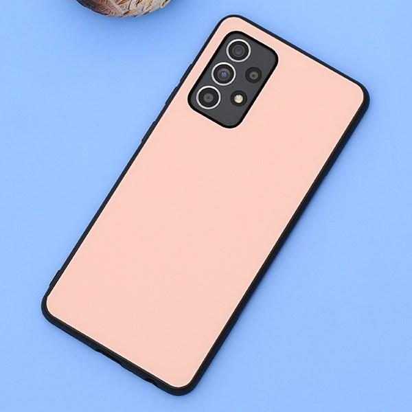 Ốp lưng Galaxy A52 nhựa cứng viền dẻo Tempered Glass CK-T001-20 OSMIA Hồng