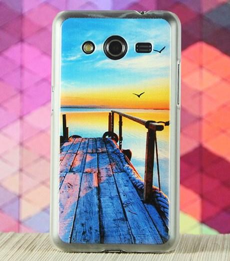 Ốp lưng - Flipcover điện thoại Ốp lưng Core 2 Nhựa in X Mobile Cầu tàu