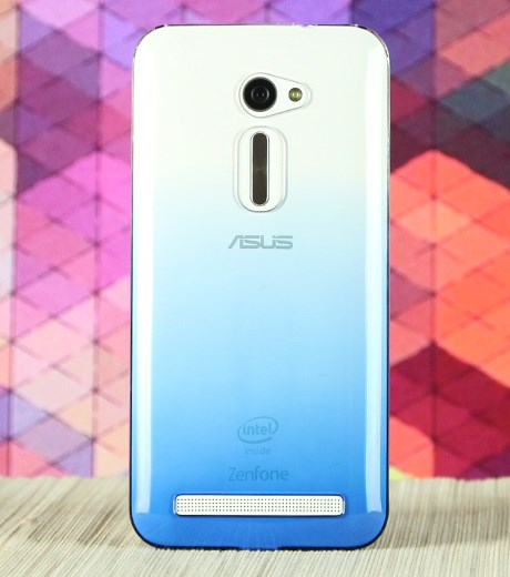 Ốp lưng - Flipcover điện thoại Ốp lưng Zenfone 2 5 inch Nhựa Zenus Nude Xanh