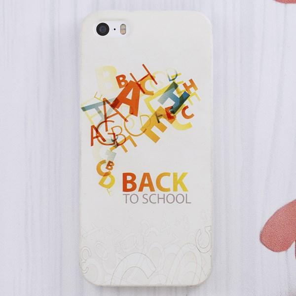 Ốp lưng iPhone 5 - 5S Nhựa in Chữ Trắng