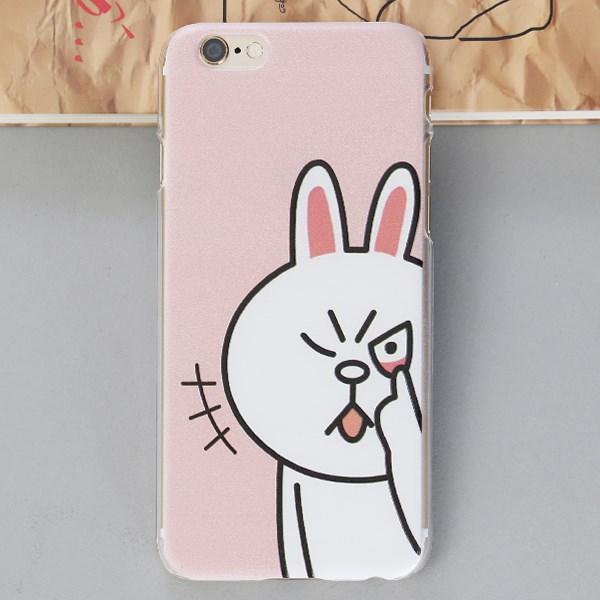Ốp lưng iPhone 6 - 6s Nhựa in Thỏ Trắng