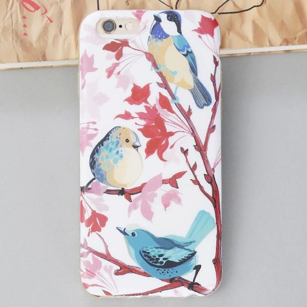 Ốp lưng iPhone 6 - 6s Nhựa Matte Chim Xanh