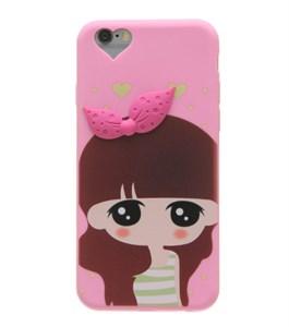 Ốp lưng iPhone 6 - 6s Nhựa Silicon Cô gái