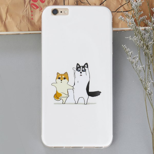 Ốp lưng iPhone 6 - 6s Plus Nhựa dẻo dày bóng Mèo