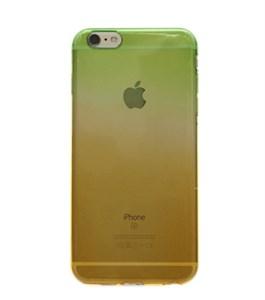 Ốp lưng iPhone 6 - 6s Plus Nhựa dẻo Xanh lá Cam
