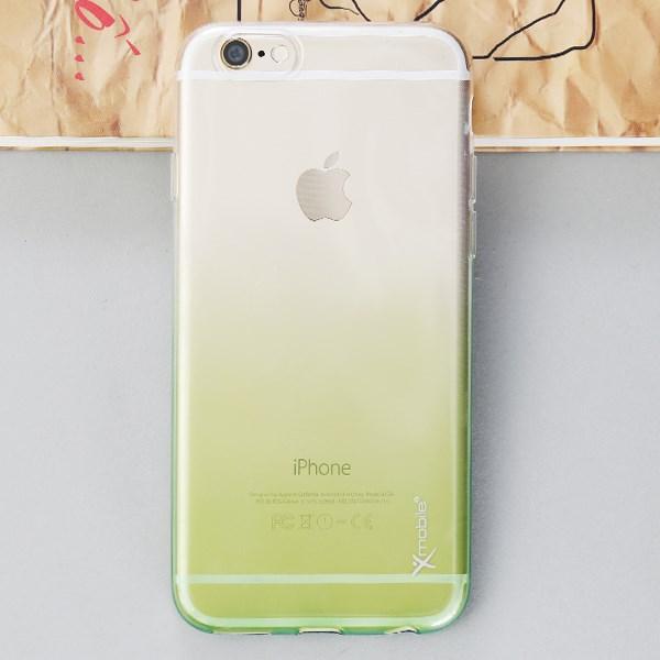 Ốp lưng iPhone 6 - 6s Nhựa dẻo trong Xanh lá