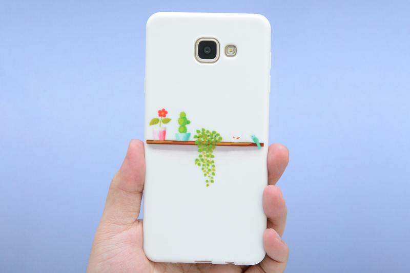 Ốp lưng Galaxy A7 nhựa dẻo Candy OSMIA Lá Xanh có thiết kế không quá cầu