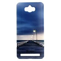 Ốp lưng Zenfone Max Nhựa cứng in solid Cầu Xanh Lam