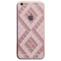 Ốp lưng iPhone 6 - 6s Plus Nhựa dẻo trong Plaid Xmobile