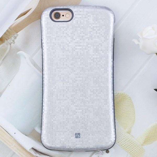Ốp lưng iPhone 6 - 6s Nhựa dẻo Face JM Bạc