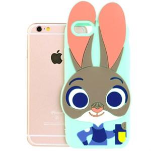 Ốp lưng iPhone 6 - 6s Nhựa hình thú OSMIA Thỏ Xanh