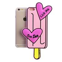 Ốp lưng iPhone 6 - 6s Plus Nhựa hình thú OSMIA Kem Hồng