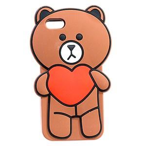 Ốp lưng iPhone 5-5S Nhựa hình thú OSMIA Gấu Nâu