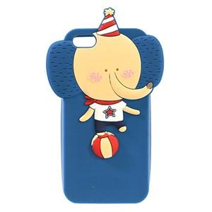 Ốp lưng iPhone SE Nhựa hình thú COSANO SR-160717 Voi Vàng