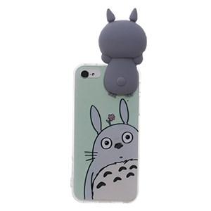 Ốp lưng iPhone 5 - 5S Nhựa hình thú OSMIA Totoro Xám