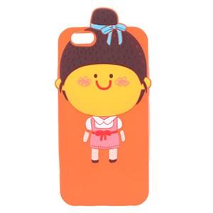 Ốp lưng iPhone 6 - 6s Nhựa hình thú COSANO Tóc búi Cam