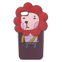 Ốp lưng iPhone SE Nhựa hình thú COSANO Sư tử Cam