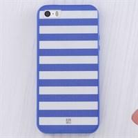 Ốp lưng iPhone SE nhựa dẻo Paint JM JM161003 Sọc trắng xanh