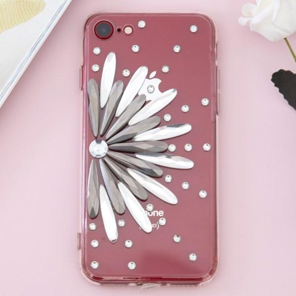Ốp lưng iPhone 7 - iPhone 8 Nhựa cứng viền dẻo Diamond OSMIA Bạc