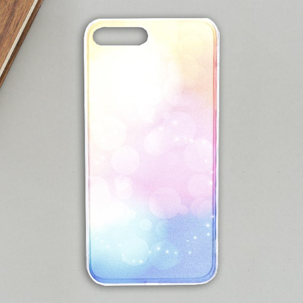 Ốp lưng iPhone 7 plus - 8 Plus Nhựa cứng viền dẻo Blue Shining IMD OSMIA Đỏ Xanh dương