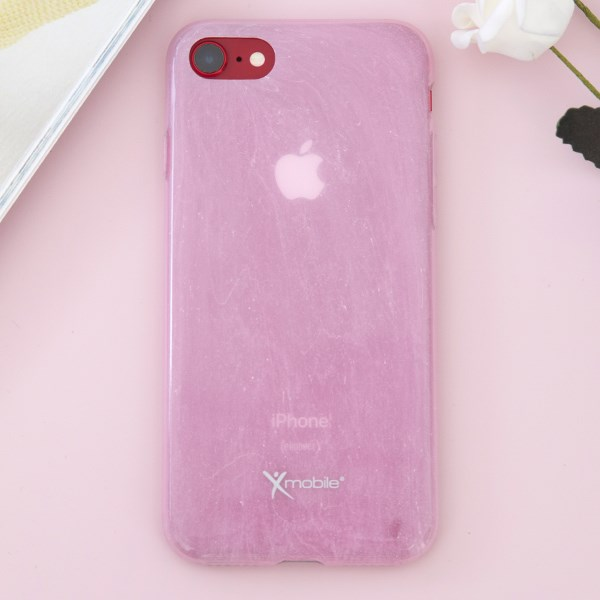 Ốp lưng iPhone 7 - iPhone 8 Nhựa dẻo Marble I Xmobile Hồng