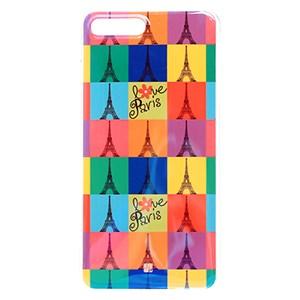 Ốp lưng iPhone 7 Plus - 8 Plus Nhựa dẻo Imd III JM Tháp Eiffel Xanh