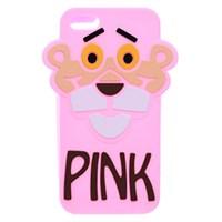 Ốp lưng iPhone SE Nhựa hình thú COSANO Báo Hồng