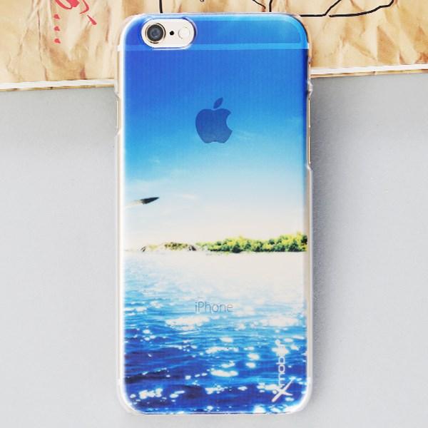 Ốp lưng iPhone 6-6S Nhựa cứng in mờ SR161006 Biển Xanh navy