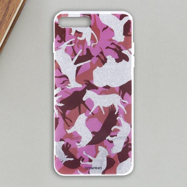 Ốp lưng iPhone 7 Plus - 8 Plus Nhựa cứng viền dẻo COSANO Động vật Tím