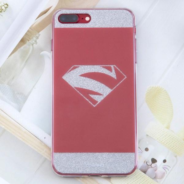 Ốp lưng iPhone 7 Plus - 8 Plus Nhựa cứng viền dẻo COSANO S Đỏ