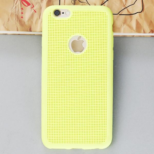 Ốp lưng iPhone 6 - 6s Nhựa dẻo Fabric Xmobile Vàng Xanh lá