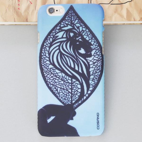 Ốp lưng iPhone 6-6S Nhựa dẻo in Matte Water COSANO SR161113 Cô gái Xanh biển