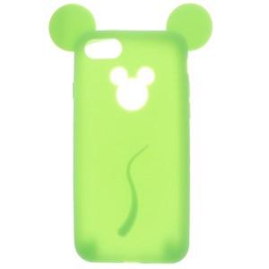 Ốp lưng iPhone 7 - iPhone 8 Nhựa dẻo hình thú Slim Character COSANO SR161120 Tai chuột Xanh cây