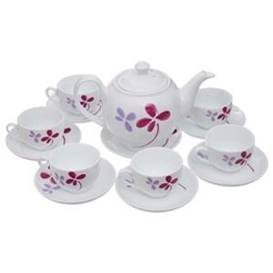 Bộ ấm trà sứ UNC tứ diệp thảo FTS01 14 món