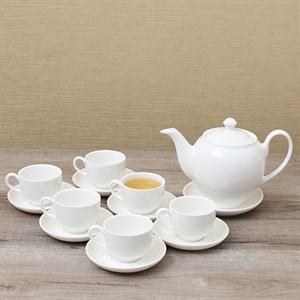 Bộ ấm trà sứ Minh Châu MC-BAT02 trắng