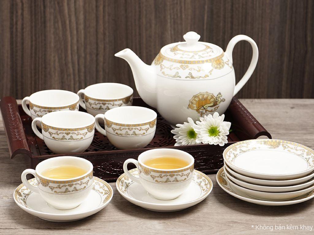 Bộ ấm trà Minh Châu MC-BAT01- ngựa vàng 2