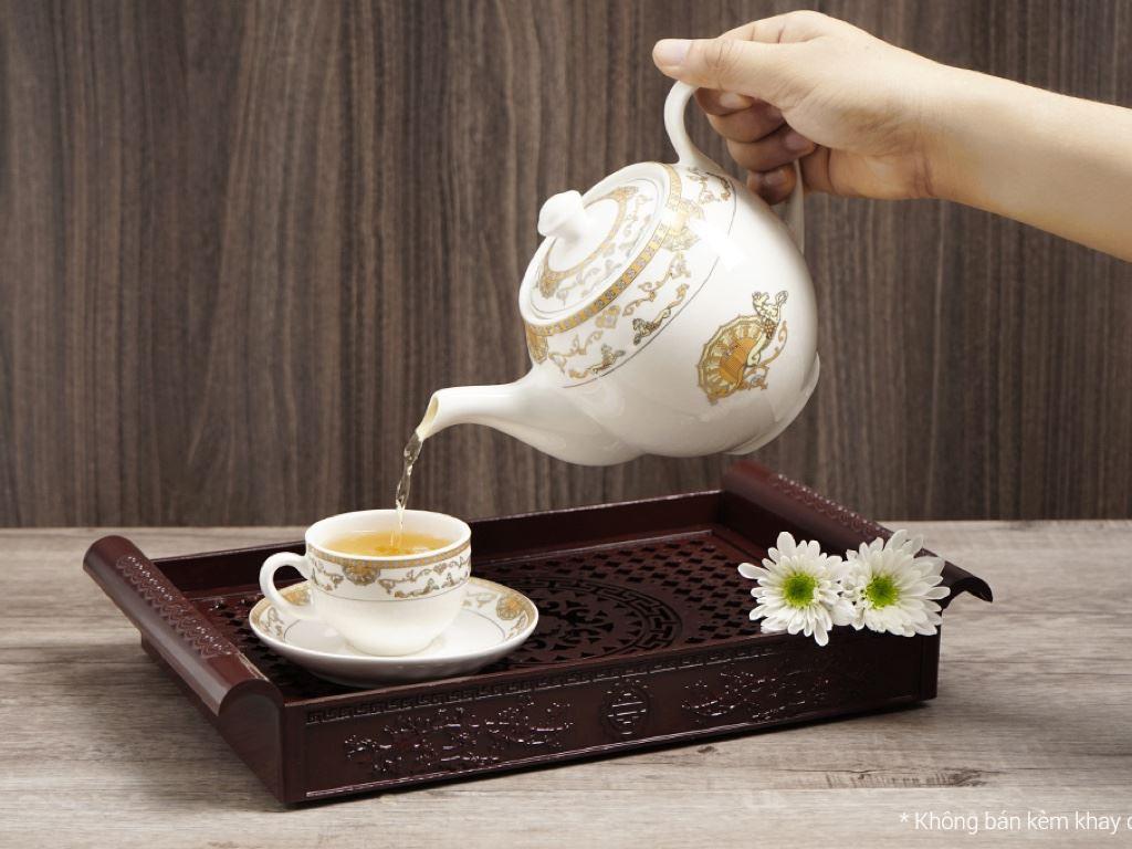 Bộ ấm trà Minh Châu MC-BAT01- ngựa vàng 3