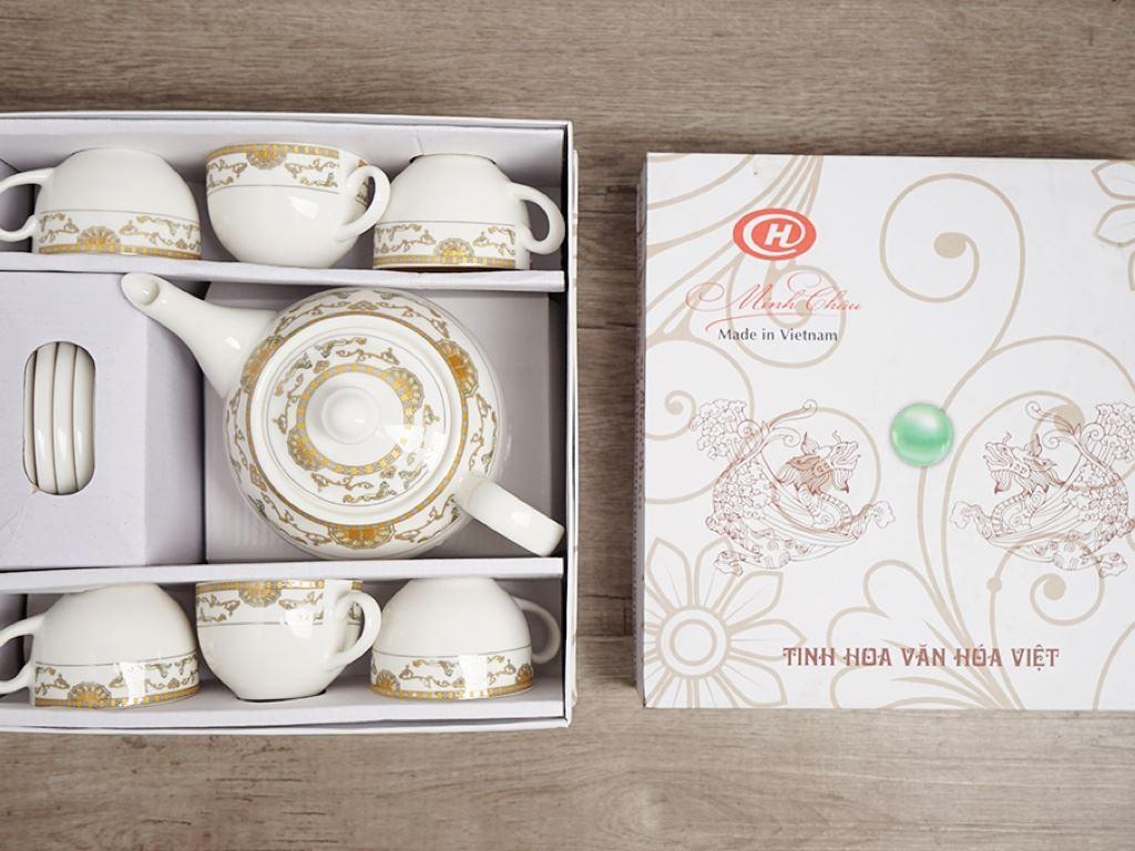Bộ ấm trà Minh Châu MC-BAT01- ngựa vàng 10