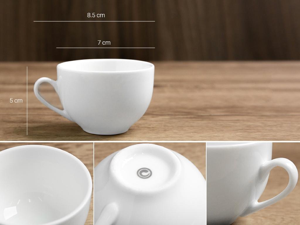 Bộ trà tròn trắng Sứ sương lớn 0.9 L/SSA019 5