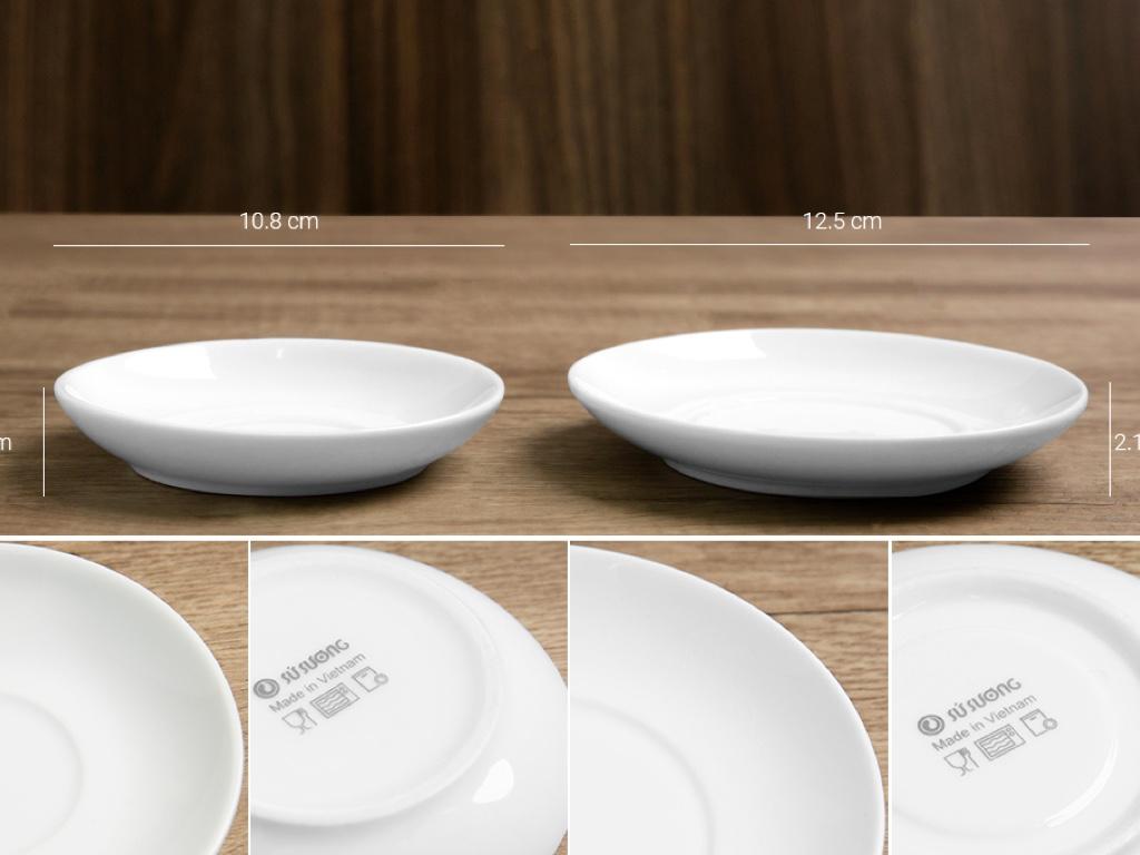 Bộ trà tròn trắng Sứ sương lớn 0.9 L/SSA019 6