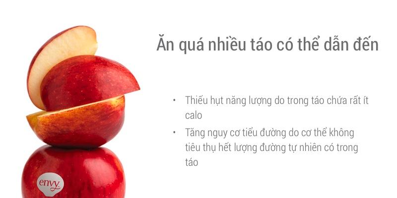 tác dụng phụ khi ăn quá nhiều táo envy