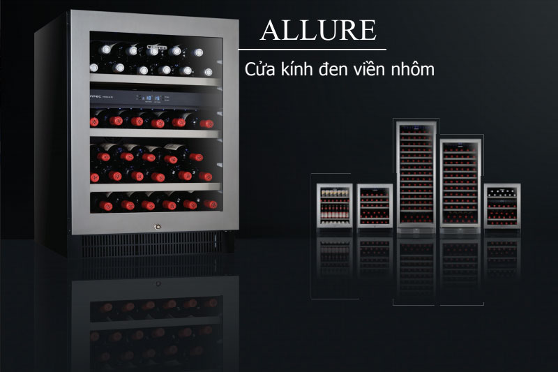 Thiết kế sang trọng, đẳng cấp - Tủ trữ rượu vang Vintec ALV40SG2E 40 chai