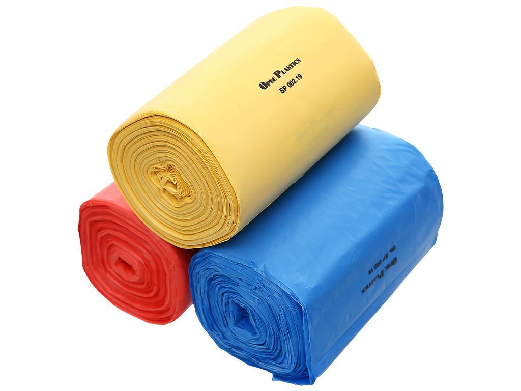Lốc 3 cuộn túi rác màu tự huỷ sinh học Opec 45x55cm (1kg) 6