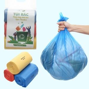 Lốc 3 cuộn túi rác màu tự huỷ sinh học Opec 55x65cm (1kg)