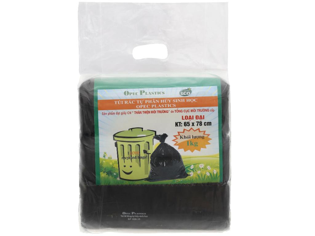 Lốc 3 cuộn túi rác đen tự huỷ sinh học Opec 65cm x 78cm (1kg) 1