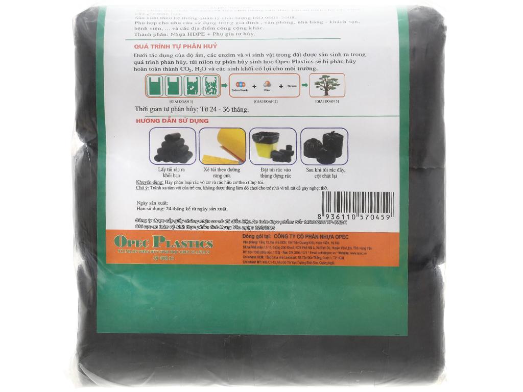 Lốc 3 cuộn túi rác đen tự huỷ sinh học Opec 65cm x 78cm (1kg) 2
