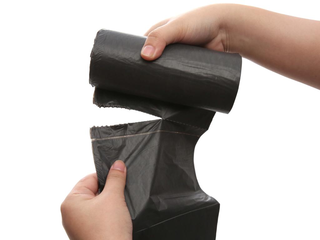 3 cuộn túi rác đen tự hủy sinh học 55x65cm 1kg 3