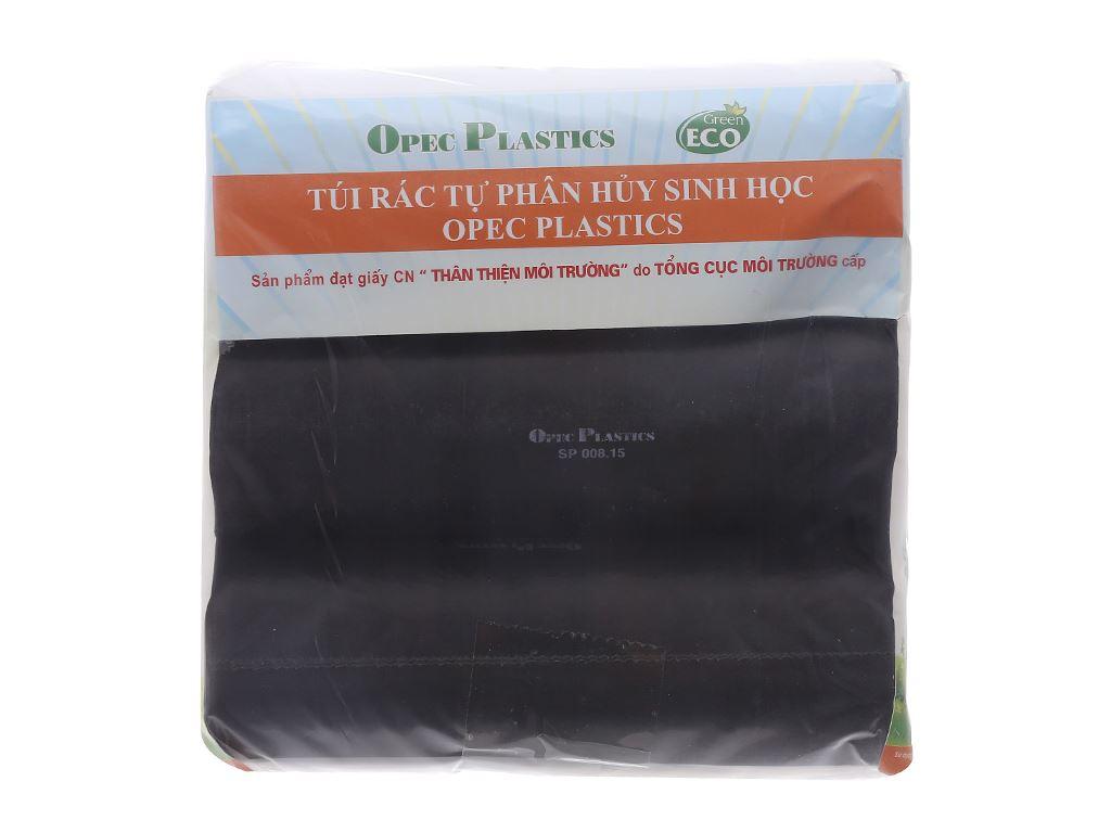 Lốc 3 cuộn túi rác đen tự huỷ Opec 65x78cm (1kg) 1
