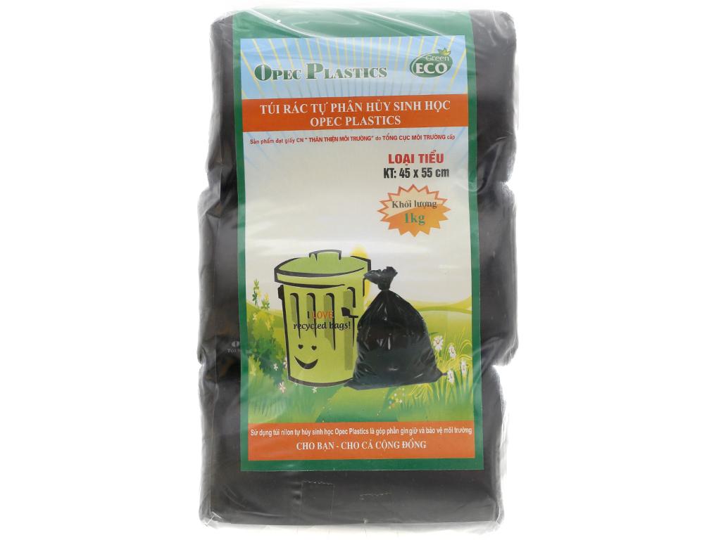 Lốc 3 cuộn túi rác đen tự huỷ sinh học Opec 45x55cm (1kg) 1