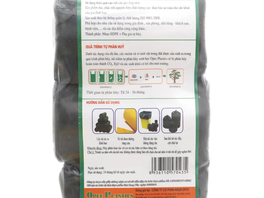 Lốc 3 cuộn túi rác đen tự huỷ sinh học Opec 45cm x 55cm 2